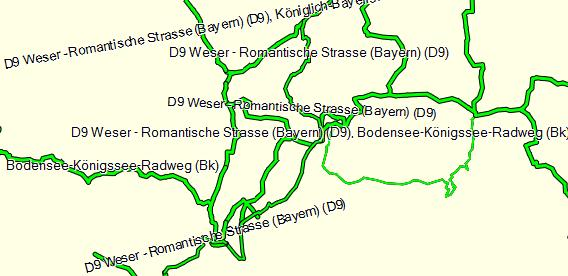 OSM Bycycling Layer mit Radrouten