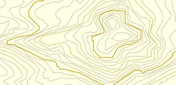 SRTM Höhenlinien Landkarte im 10 Meter Abstand