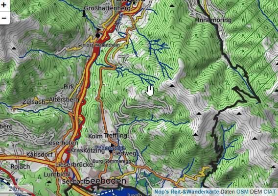 Nops Wanderreitkarte Online-Landkarte