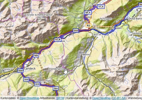 OpenTopoMap Online-Landkarte