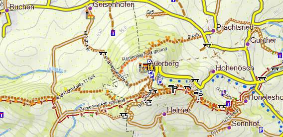 Speichenkarte OSM Freizeitkarte von Arndt Röhrig