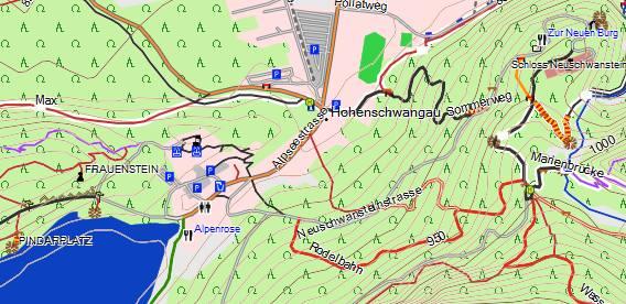 Wanderreitkarte von Klaus Gaßner