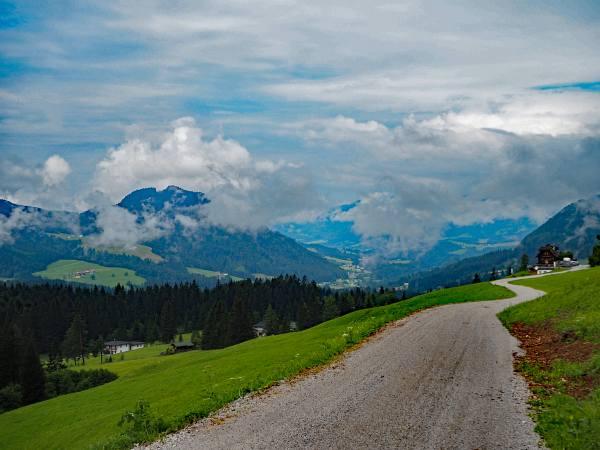 MTB Transalp, Salzburg nach Abtenau, Auf dem Weg nach Folzmoos
