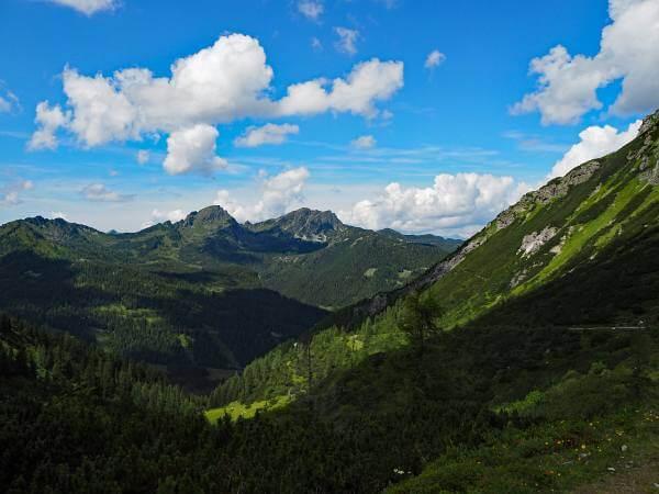 MTB Transalp Tauerngold, Auffahrt zum Oberhüttensattel