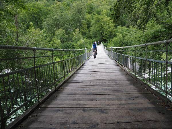 MTB Transalp Slowenien, Hängebrücke über die Soca