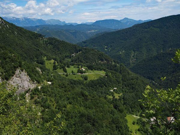 MTB Transalp durch Slowenien, auf dem Weg nach Ajdovscina