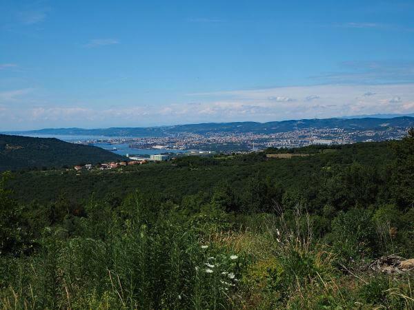 MTB Transalp nach Slowenien, Blick zur Adria