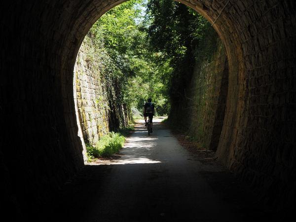 Parenzana Bahntrasse, Tunnel