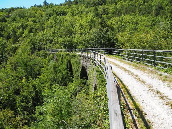 Bahnradweg Parenzana, Istrien Kroatien, Viaduct