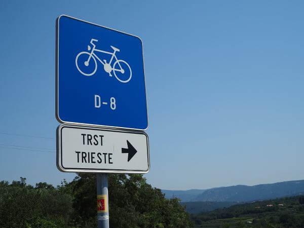MTB Transalp bis zur Adria, D8 Radweg nach Triest