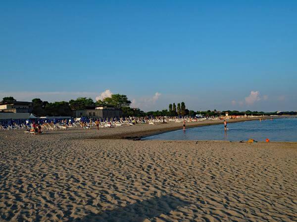 MTB Transalp bis zur Adria, Strand in Grado