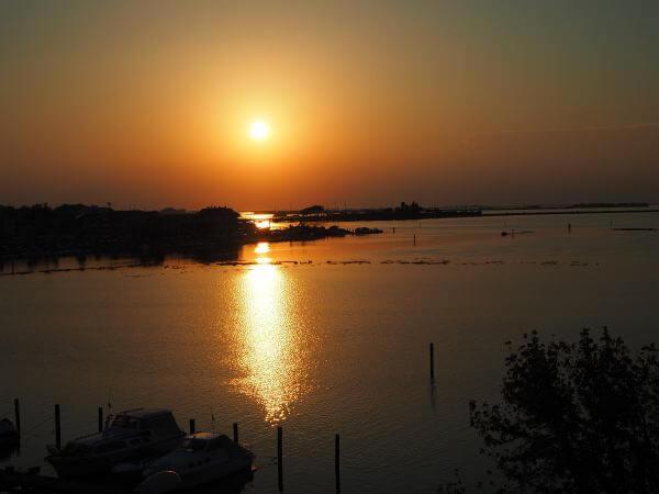 MTB Transalp bis zur Adria, Sonnenuntergang in Grado