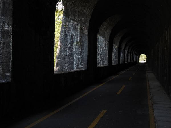 MTB Transalp Alpe Adria nach Villach, Pontebbana Bahntrassen Radweg