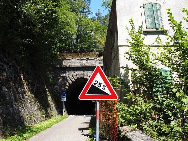MTB Transalp Salzburg Grado, 47 km Bahntrasse Pontebbana Radweg