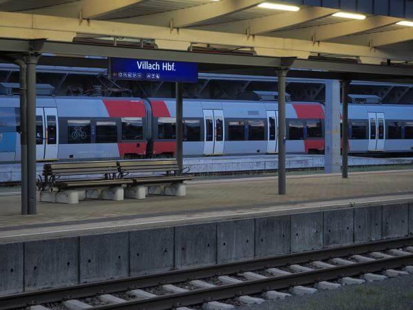 MTB Transalp Salzburg Grado, Villach, Hauptbahnhof