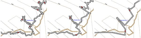 Glätten bzw. Filtern von Tracks nach Zeit und Distanz.
