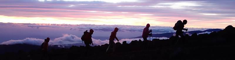 Wanderreise La Reunion, Besteigung des Piton de Neiges am frühen Morgen, 3070 m