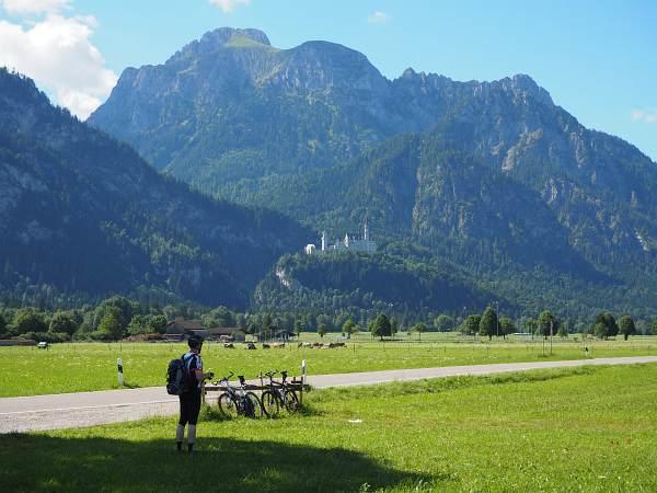 Alpencross XL 2017, Blick auf Neuschwanstein