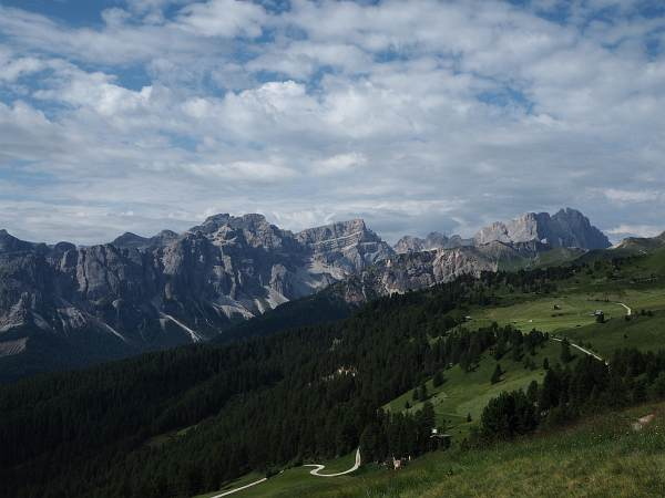 Alpencross XL 2017, Panorama in den Dolomiten