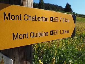 MTB Westalpencross 2018, Wegweiser zum Mont Chaberton