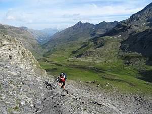 MTB Westalpencross 2018, Aufstieg zum Passo Vallanta, 2811 m