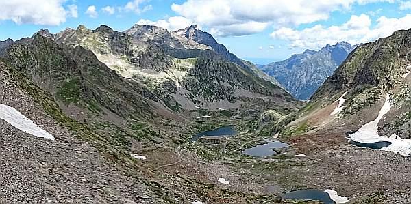 MTB Westalpencross 2018, Panorama beim Bassa Druos, 2628 m