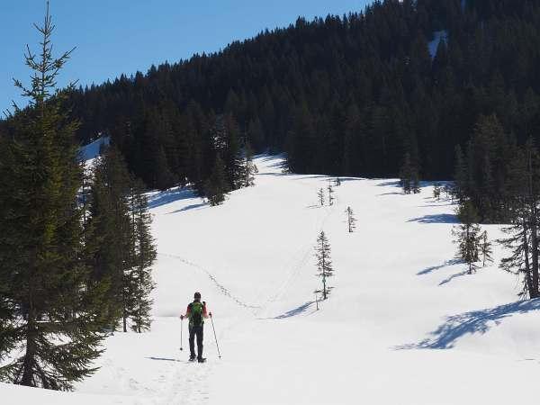 Piesenkopf, Schneeschuhwandern in den Allgäuer Alpen, Traumwetter.