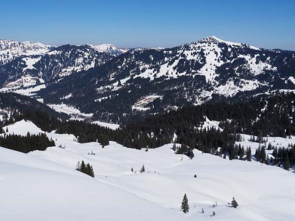 Piesenkopf, Schneeschuhwandern in den Allgäuer Alpen, Riedberger Horn.