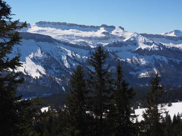 Piesenkopf, Schneeschuhwandern in den Allgäuer Alpen, Hohe Ifen.