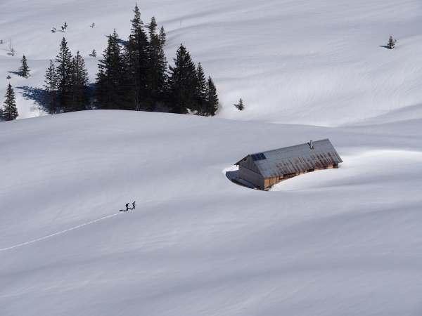 Piesenkopf, Schneeschuhwandern in den Allgäuer Alpen