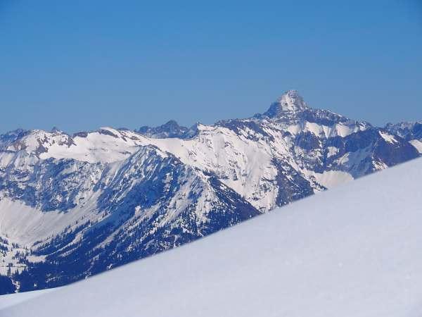 Piesenkopf, Schneeschuhwandern in den Allgäuer Alpen, Panoramaausblick