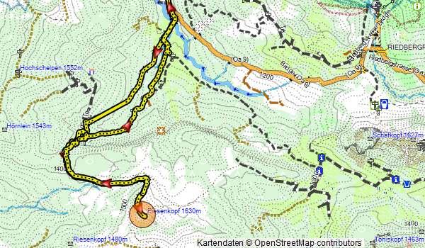 Karte Schneeschuhwanderung Piesenkopf