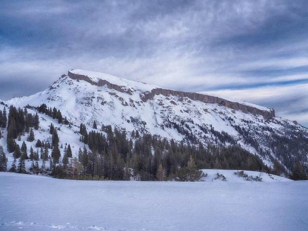 Blick zum Hohen Ifen, Schneeschuhwandern in den Allgäuer Alpen