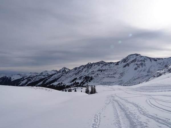 Hählekopf, Schneeschuhwandern in den Allgäuer Alpen.