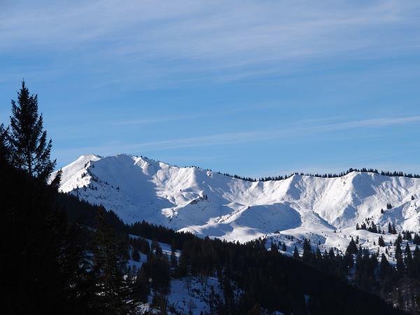 Schneeschuhwanderung zum Rangiswanger Horn bei Gunzesried, Aufstieg