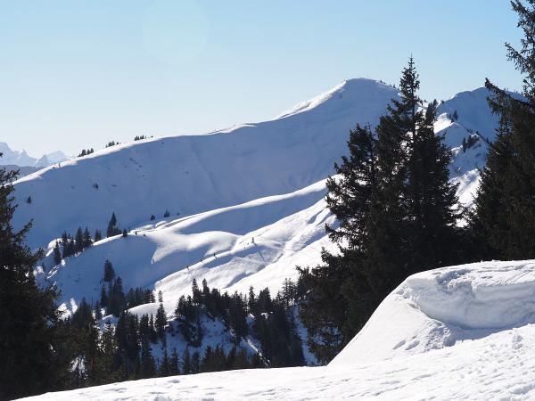Schneeschuhwanderung zum Rangiswanger Horn bei Gunzesried, Riedberger Horn