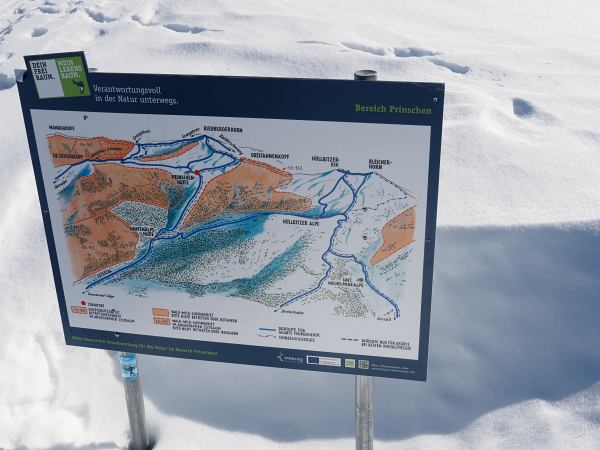 Schneeschuhwanderung zum Rangiswanger Horn bei Gunzesried, Verantwortungsvoll unterwegs beim Schneeschuhwandern