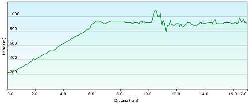 MTB Trail Tracciolino Höhenprofil