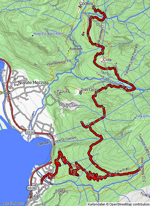 MTB Trail Tracciolino Übersichtskarte