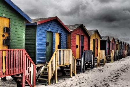 Südafrikareise 2014, Foto 31, Strandhäuschen bei St. James