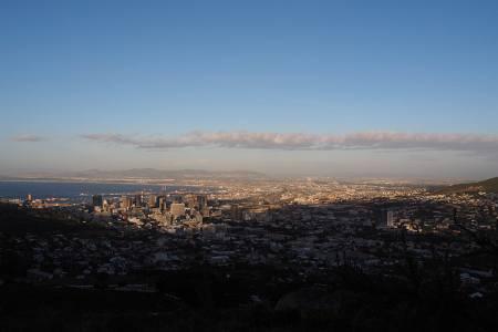 Südafrikareise 2014, Foto 37, Blick vom Signal Hill auf Kapstadt