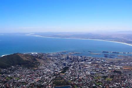 Südafrikareise 2014, Foto 38, Blick vom Tafelberg auf Kapstadt