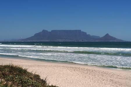 Südafrikareise 2014, Foto 39, Bloubergstrand, Blick auf Kapstadt